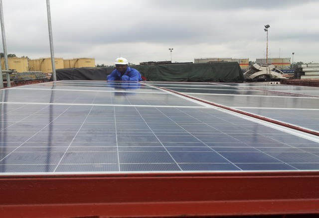 warehouse solar panel project